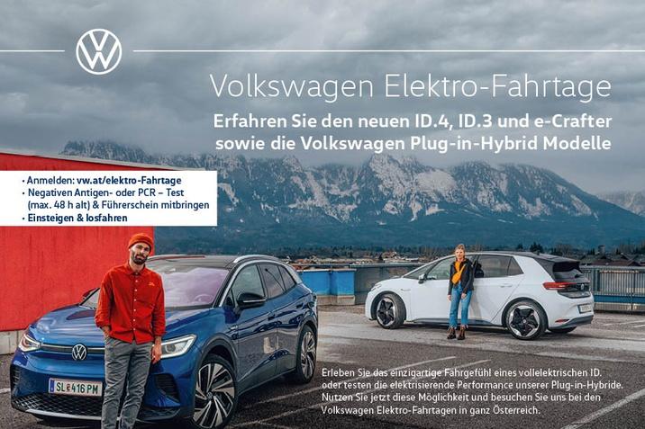 volkswagen Elektro-Fahrtage